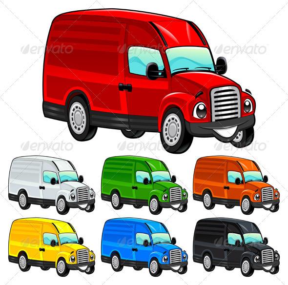 Funny van.  - Travel Conceptual