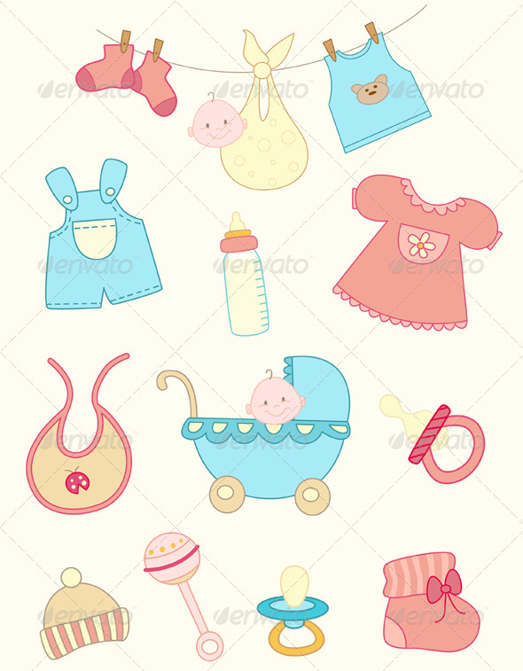 Baby Icons Set - People Characters