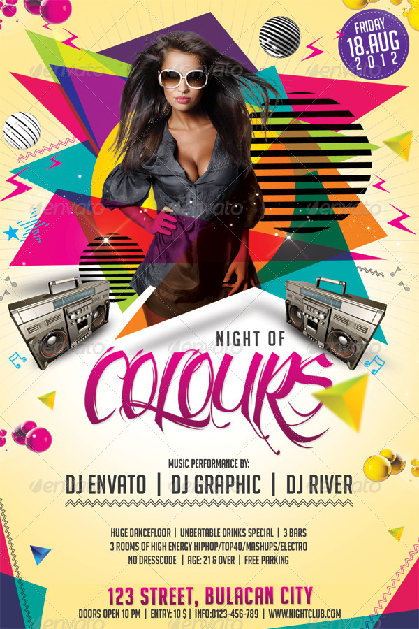 psychedelic club  night party flyer bundle  08 by hermz