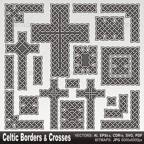 Celtic borders and crosses - Borders Decorative