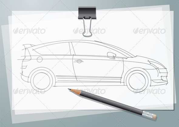 Car Sketch - Backgrounds Business