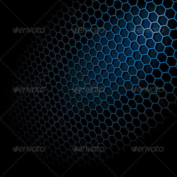 Hexagon Grid - Abstract Conceptual
