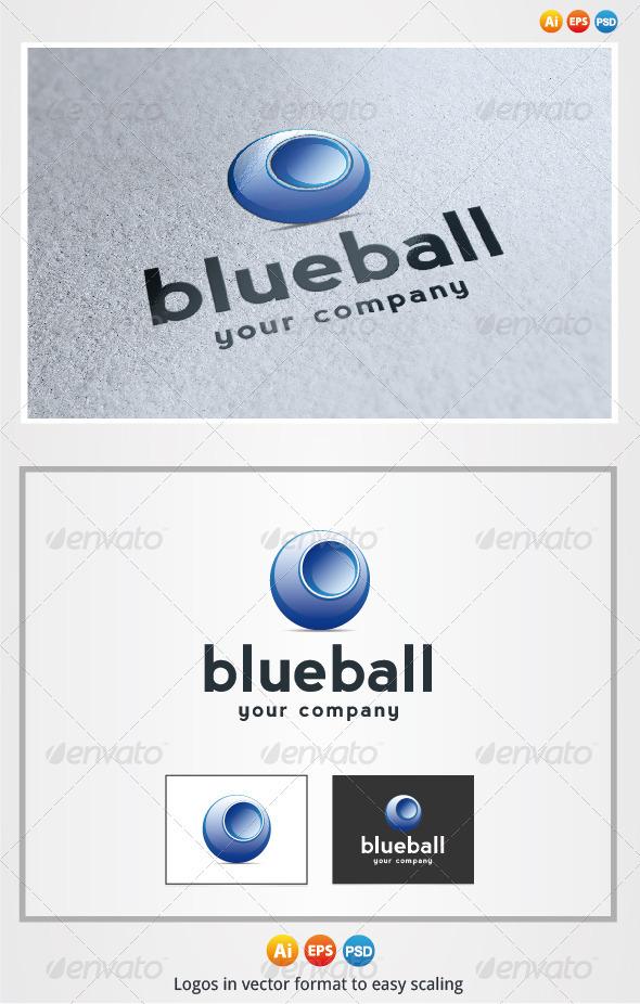 Blue Ball - 3d Abstract