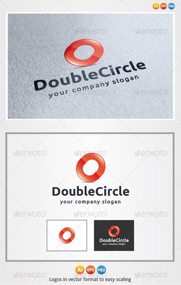 Double Circle - 3d Abstract