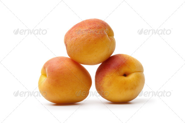 Whole fresh ripe apricots - Stock Photo - Images