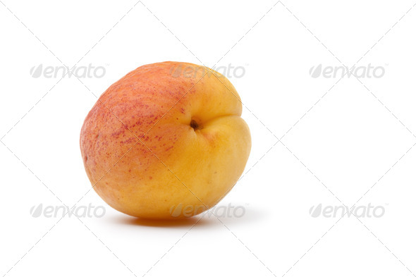 Whole fresh apricot - Stock Photo - Images