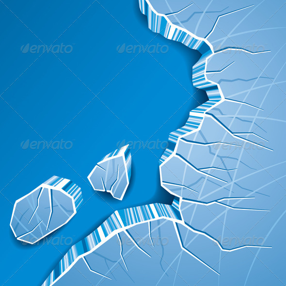 Cracked Ice Background - Backgrounds Decorative
