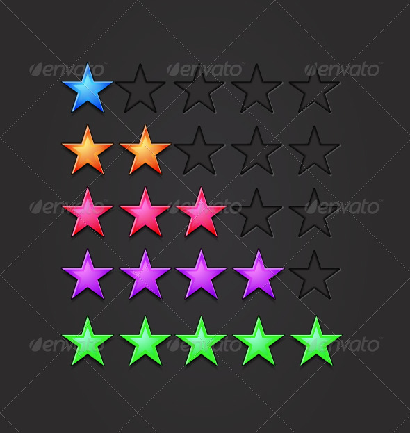 Vector Rating Stars - Web Technology