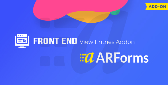 Download Front-end Entries View For ARForms Free Nulled