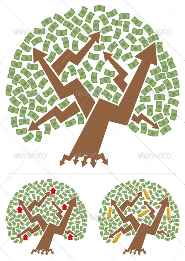 Investments Tree - Abstract Conceptual