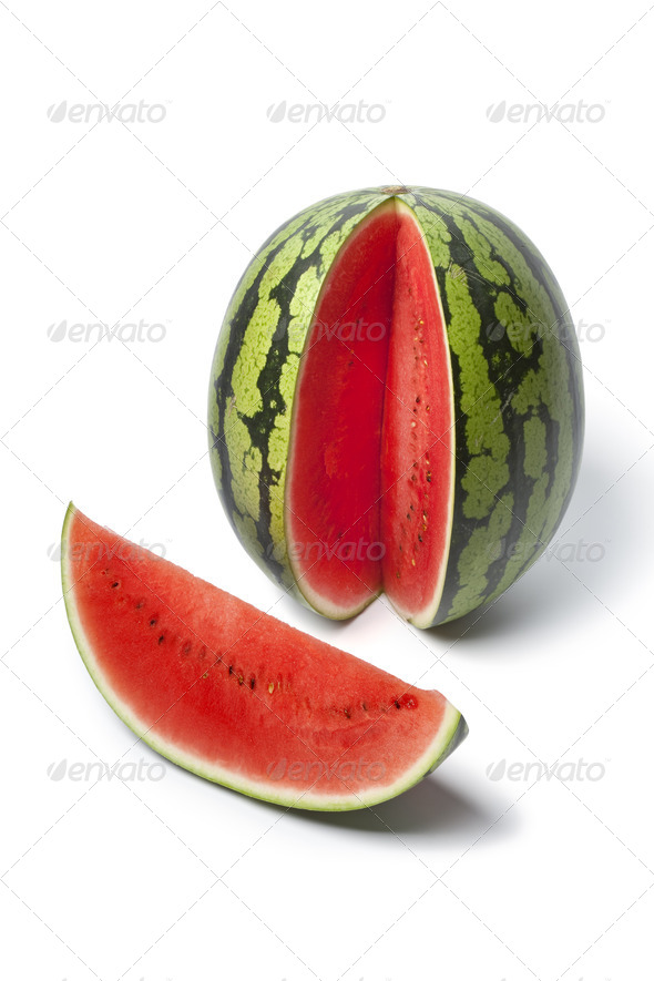 Whole and partial water melon - Stock Photo - Images