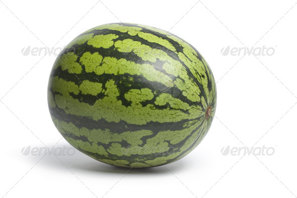 Whole fresh water melon - Stock Photo - Images