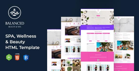 BALANCED Spa || HTML template For SPA, Wellness & Beauty