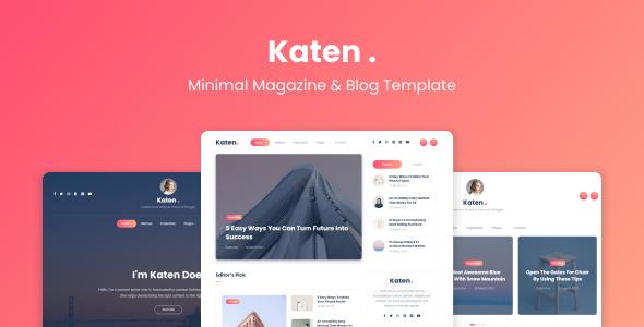 Katen – Minimal Blog & Magazine HTML Template