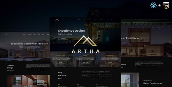 Great Artha - React Interactive Interior Template