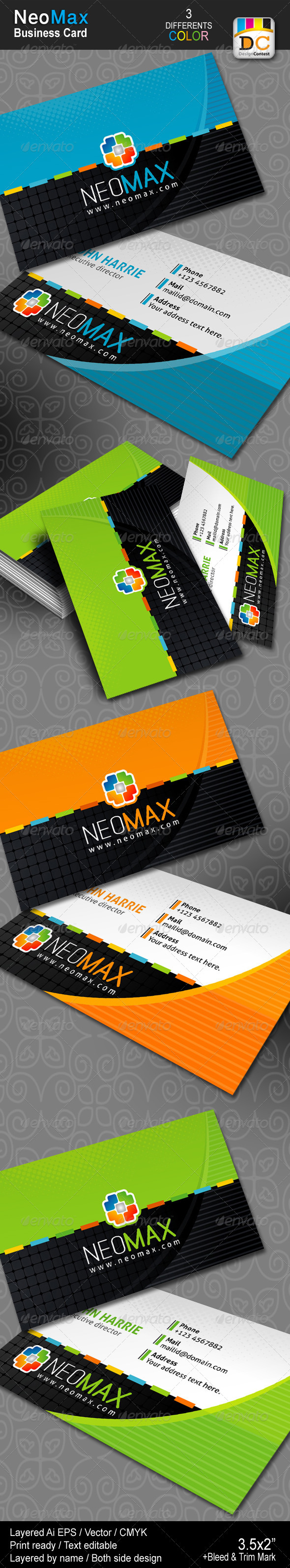 NeoMax Business Cards - Creative Business Cards