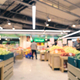Blurred colorful supermarket products on shelves - PhotoDune Item for Sale