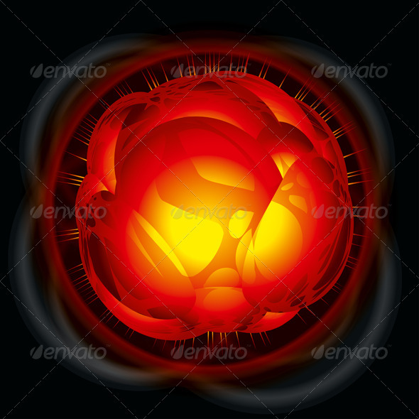 Power Explosion - Abstract Conceptual