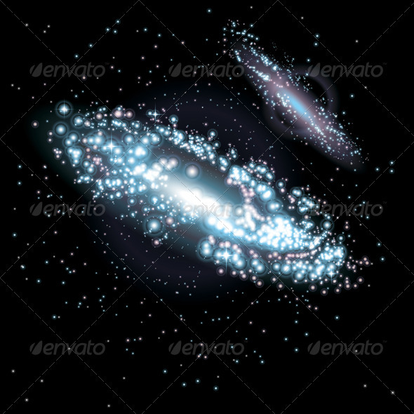 Two Galaxies - Miscellaneous Vectors