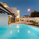 Modern house with garden swimming pool and wooden pergula - PhotoDune Item for Sale