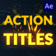 Colorful Action Titles | After Effects