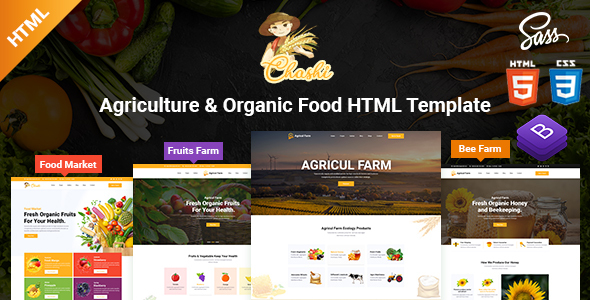Excellent Chashi - Agriculture & Organic Food HTML Template