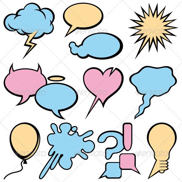 Talking Bubbles Set - Decorative Symbols Decorative