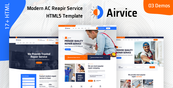 Airvice – AC Repair Services HTML5 Template