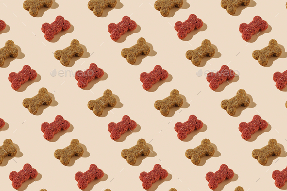 Modern pattern of dog food - Stock Photo - Images