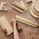 Carpenter measuring wooden details - PhotoDune Item for Sale