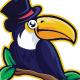 Toucan Magic Mascot Logo Template
