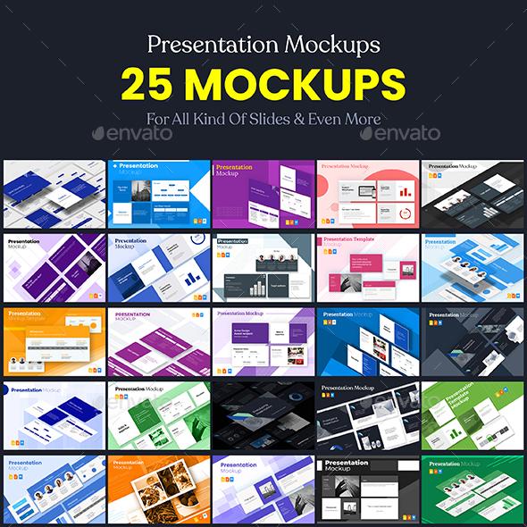 Slides Templates Presentation Mockups Vol.1