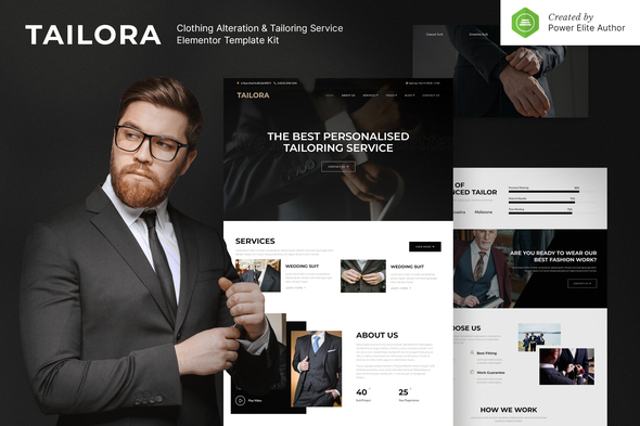 Tailora – Clothing Alteration & Tailoring Service Elementor Template Kit