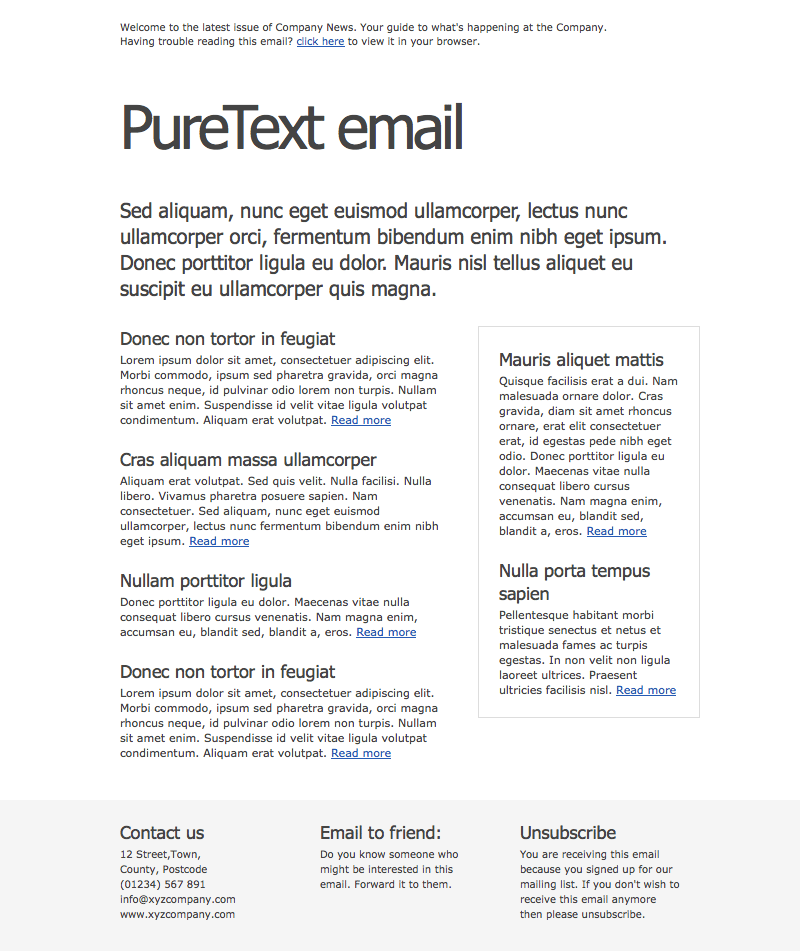 Free Download PureText Email Newsletter Nulled Latest Version