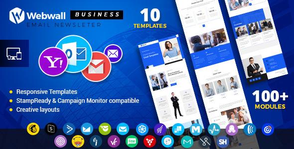 Webwall - Business Responsive Email Newsletter - V14