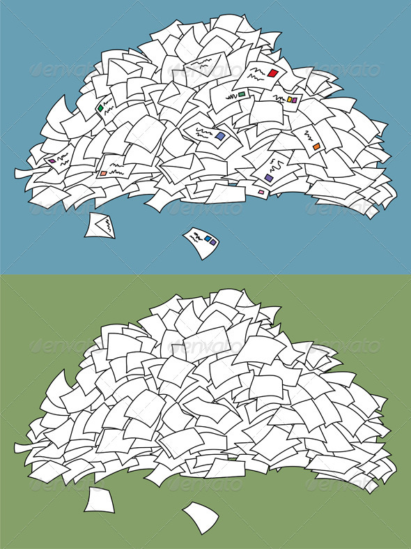 Letter Pile - Man-made Objects Objects