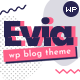 Evia - a Responsive Blog Theme for WordPress