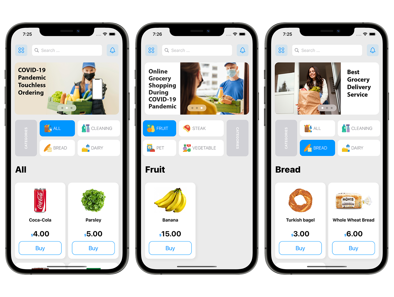 SwiftUI Grocery App | Woocommerce Full iOS Application - 2