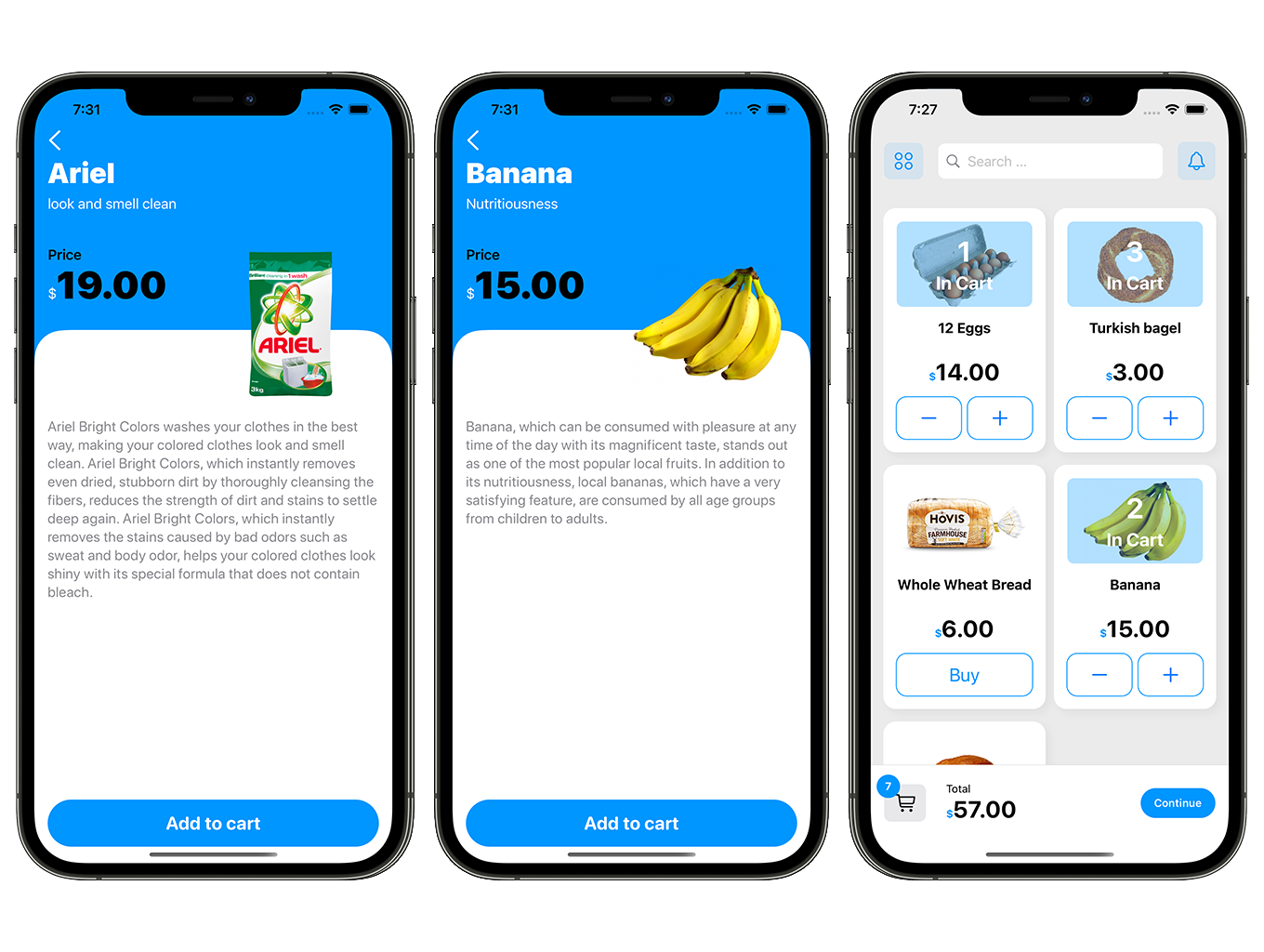 SwiftUI Grocery App | Woocommerce Full iOS Application - 5