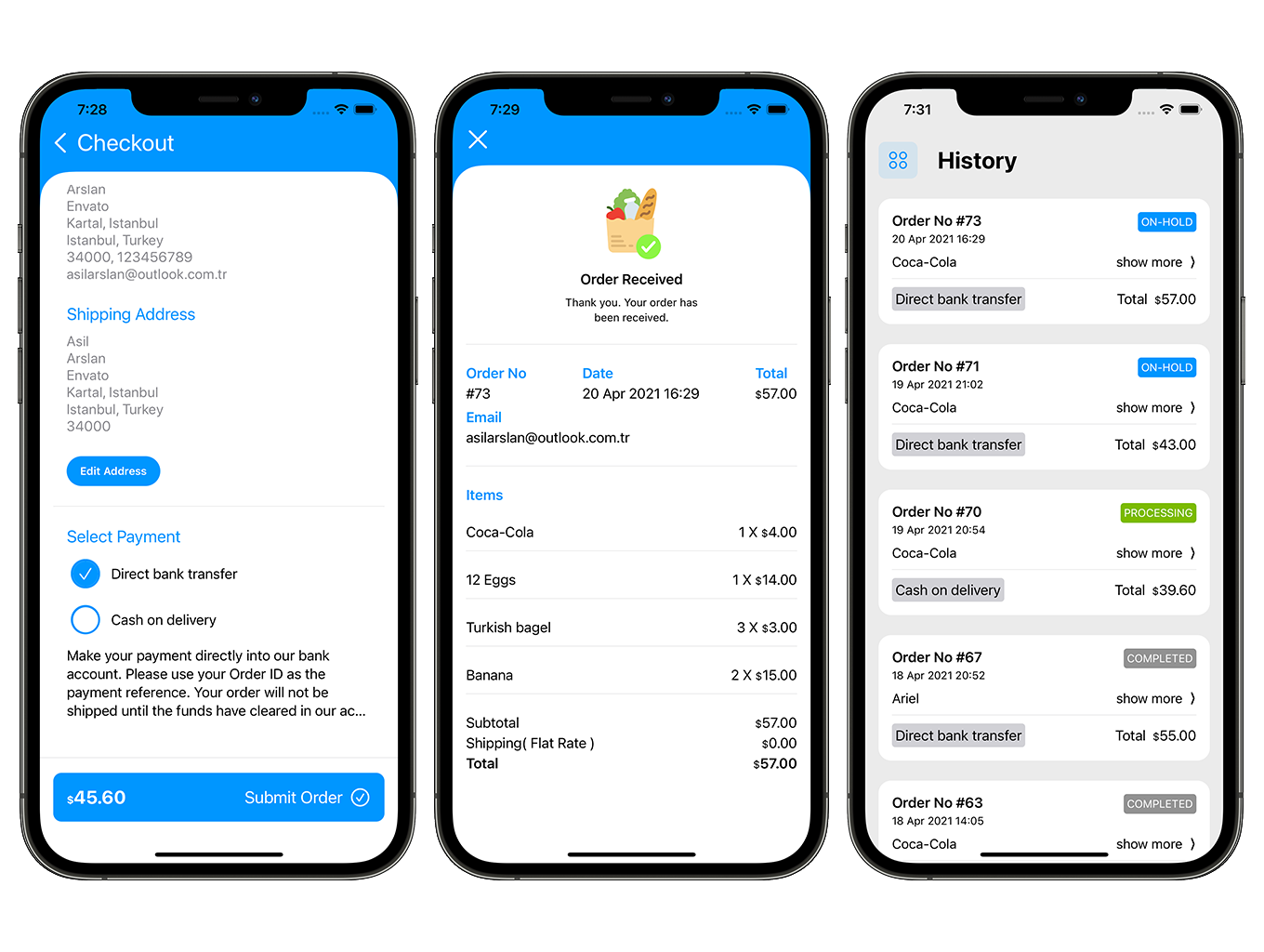 SwiftUI Grocery App | Woocommerce Full iOS Application - 7