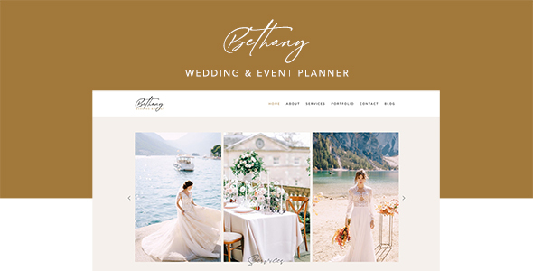 Bethany – Wedding & Event Planner Template