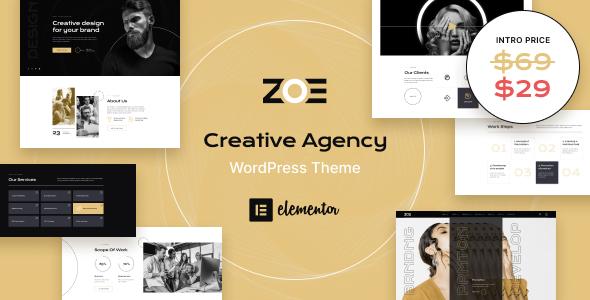 ZOE - Creative Agency WordPress Theme