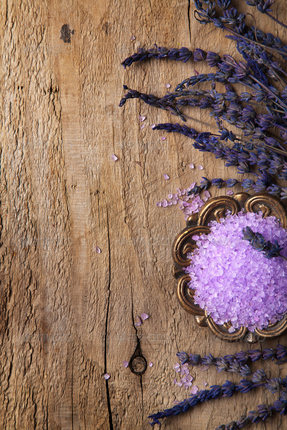 spa frame with lavender - Stock Photo - Images
