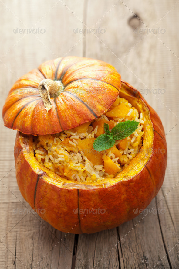 pumpkin risotto - Stock Photo - Images