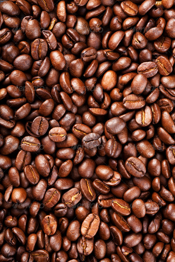 roasted coffee beans background - Stock Photo - Images