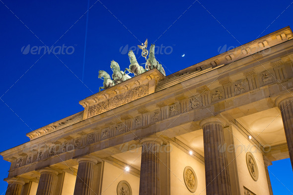 View of the Brandenburger Tor in Berlin - Stock Photo - Images