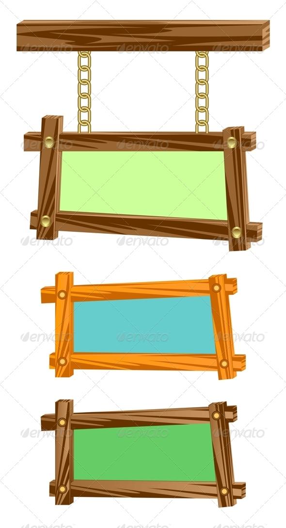 Wooden frameworks. - Borders Decorative
