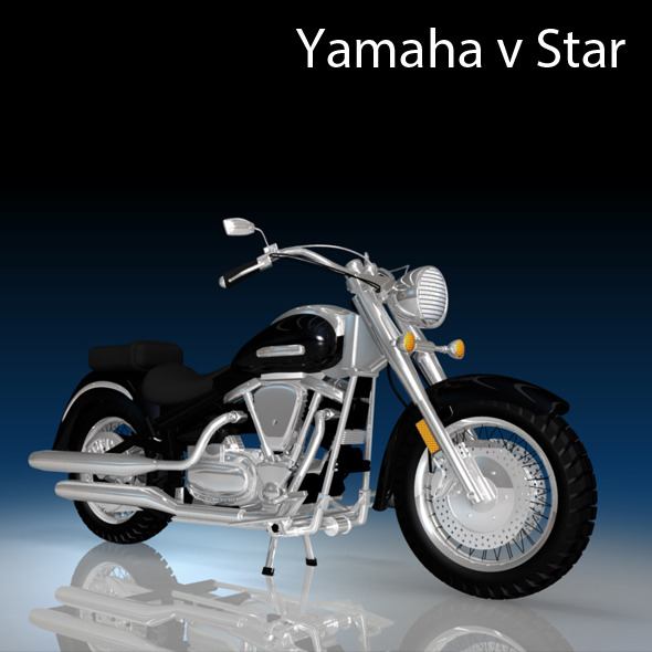 Yamaha V Star Motorcycle  - 3DOcean Item for Sale