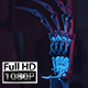 Robot Hand Spinning With Red And Blue Light - VideoHive Item for Sale