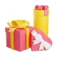 Pile of Wrapped Gift Boxes Decorated with Ribbon